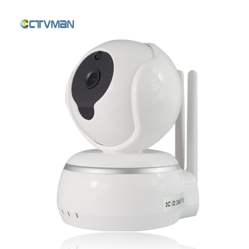 CTVMAN WIFI IP Camera Mini CCTV Surveillance Pan Tilt Micro Baby Webcam with Microphone Audio SD Card Slot P2P HD Wireless Cam