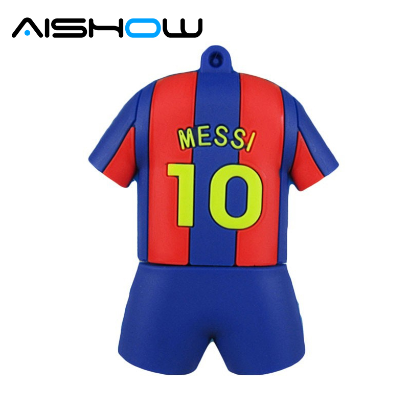 Pen drive 4GB 8GB 16GB 32GB 64GB messi Fotbal tricou usb 2.0 flash drive memorie stick pendrive flashdrive cadou mini