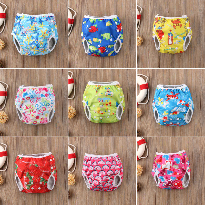 Swimming Trunks Shorts Girls Waterproof Boys Summer Diaper Floral Adjustable Baby Cute