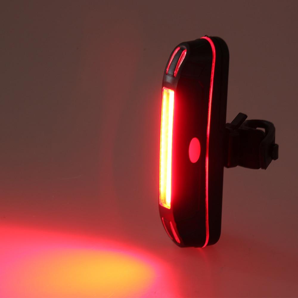 black alloy aluminium rear red led cob rechargeable usb bike light CARSONS