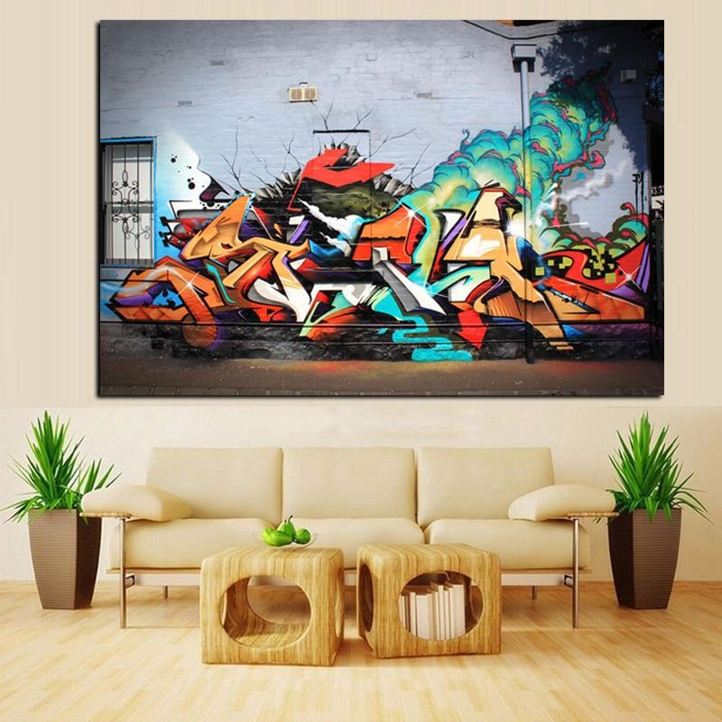 HD-tryck Street Art Volcanic Explosion Graffiti Abstrakt Pop Art - Heminredning - Foto 3