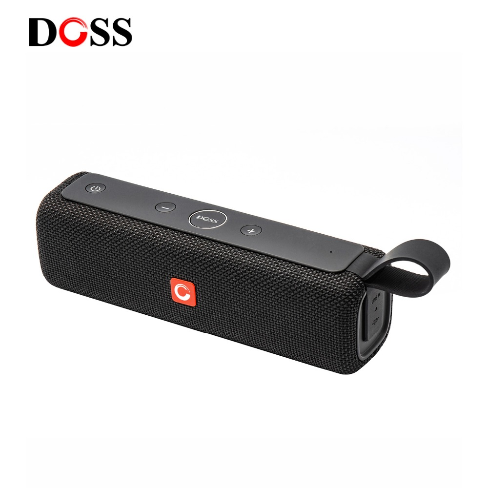 DOSS E-go ll Outdoor Bluetooth Speaker Portable Wireless Speakers IPX6 Waterproof Sound Box with Microphone AUX TF for Phone PC getihu portable mini bluetooth speakers wireless hands free led speaker tf usb fm sound music for iphone x samsung mobile phone