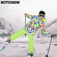 2019 New Children's Ski Suit For Kids Windproof Waterproof Warm Boys Snow Jacket And Pants Winter Snow Ski Snowboarding Suit Set
