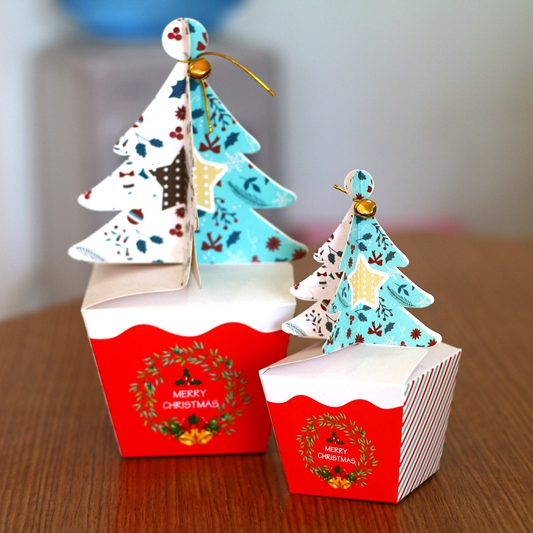 Merry Christmas tree Gift Box ,Cookie Cholocate Food Paper Boxes ...