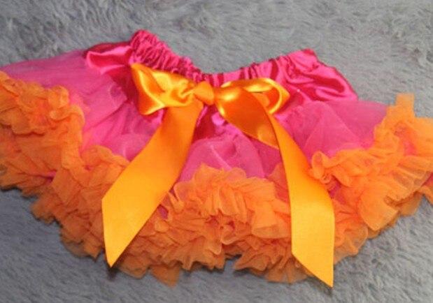 Настроить юбка-пачка новорожденных юбка-пачка ярко-розовый цвет и фиолетовый Pettiskirts Детские юбка-пачка - Цвет: Оранжевый