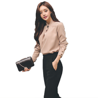 2018 Spring Women Suit Office Party Sexy Bodycon Vestidos Fashion Slim Chiffon Shirt Tops And Black