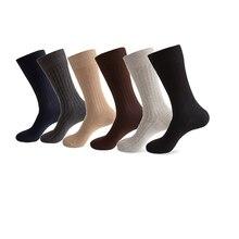 6 Pairs/Lot Plus Size Cotton Warm Socks Men Compression Dress Casual long Winter meias Gift Big Sox EUR 40-46