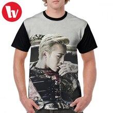 G Dragon T Shirt BIGBANG - G-Dragon T-Shirt Male Funny Graphic Tee Print Big Short Sleeves 100 Percent Polyester Beach Tshirt