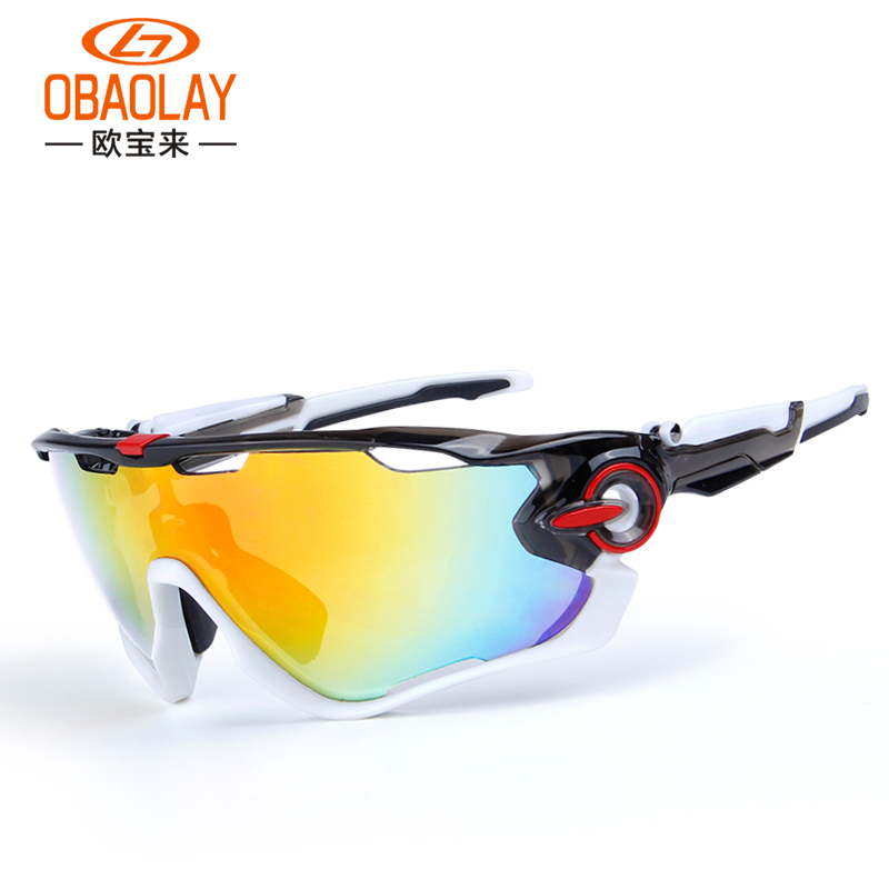 Prix pour Obaolay lunettes de vélo 3 groupe verres polarisés pour sport en plein air cyclisme randonnée vtt vélo lunettes de soleil ciclismo cyclisme lunettes