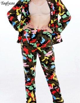2018 nuevos pantalones de camuflaje, monos ulzzang, pantalones hip-hop holgados ajustados, pantalones casuales de verano para mujer 015