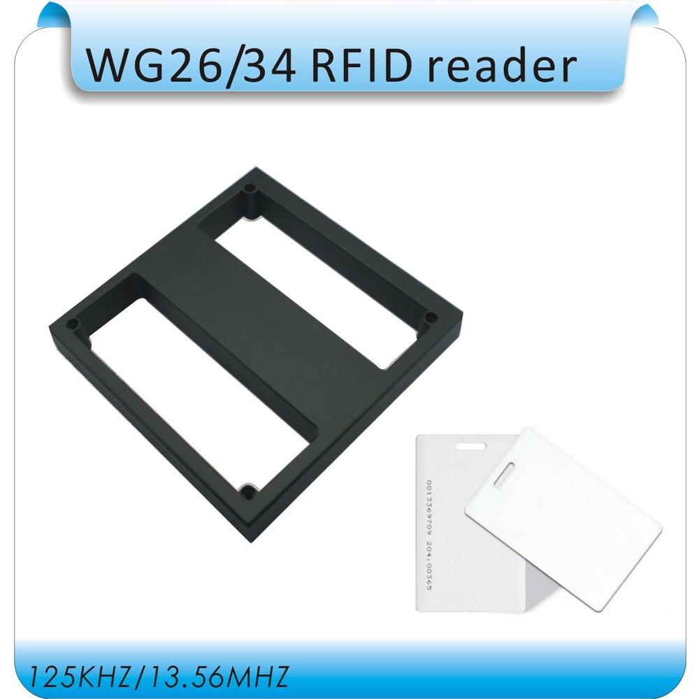 DIY étanche 50-100 cm Induction distance EM 125 KHZ Longue Portée RFID WG26 Lecteur pour Contrôle D'accès + 10 pcs épais cartes
