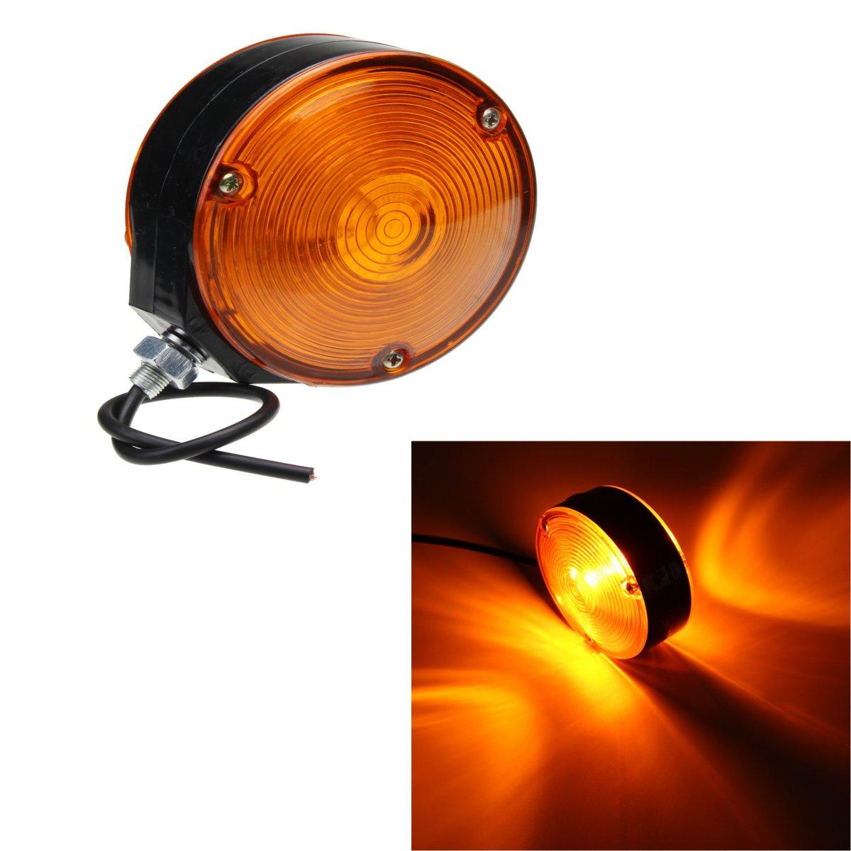 24V Car Truck Trailer Side Maker font b Lamp b font Light Lollipop Earring Amber Orange