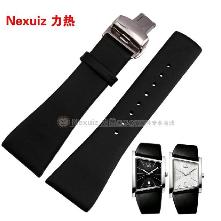 28mm lederen horlogeband horlogebanden fit merk horloges K0Q21107 | KOQ21120 Gratis verzending