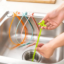 2018 High Quality Useful Home Kitchen Bathroom Sink Hair Cleaning Hooks Style Floor Drain Sewer Dredge Gift Hot Sale(China)