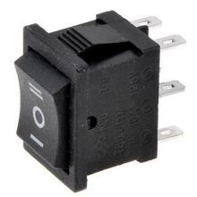 5PCS KCD2 203 6P black three position toggle switch  6A/250VAC 10A/125VAC (on / off / on) rocker switch 1011
