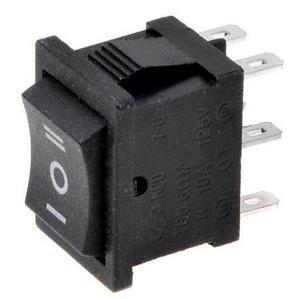 Image 1 - Interrupteur à bascule noir 3 positions KCD2 203 6P