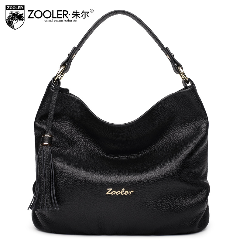 ZOOLER Women Real Leather Bag Fashion Black Half Moon Shoulder Bags Handbags Women Famous Brands Female Tote Bolsa Feminina 2017