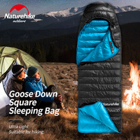 Naturehike CW400 Goose Down Square sleeping bag ultra light camping hiking Winter thicken Warm Sleeping Bags