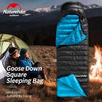 Naturerandonnée CW400 sac de couchage carré en duvet d'oie ultra léger camping randonnée hiver épaissir chaud sacs de couchage