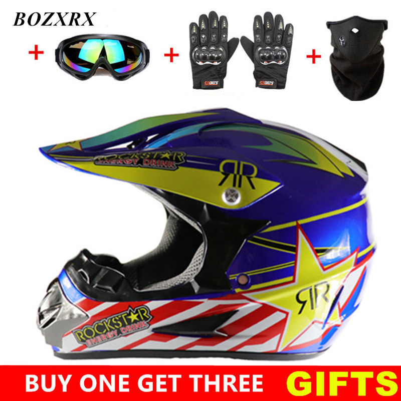 купить BOZXRX Motocross Helmet Off Road Professional ATV Cross Helmets MTB DH Racing Motorcycle Helmet Dirt Bike Capacete de Moto casco онлайн