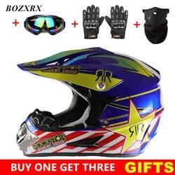 BOZXRX Motocross Helmet Off Road Professional ATV Cross Helmets MTB DH Racing Motorcycle Helmet Dirt Bike Capacete de Moto casco