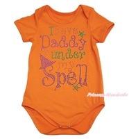 Halloween halloween ik hebben daddy onder mijn ban oranje een stuk baby bodysuit NB-18Month MAJPA0073