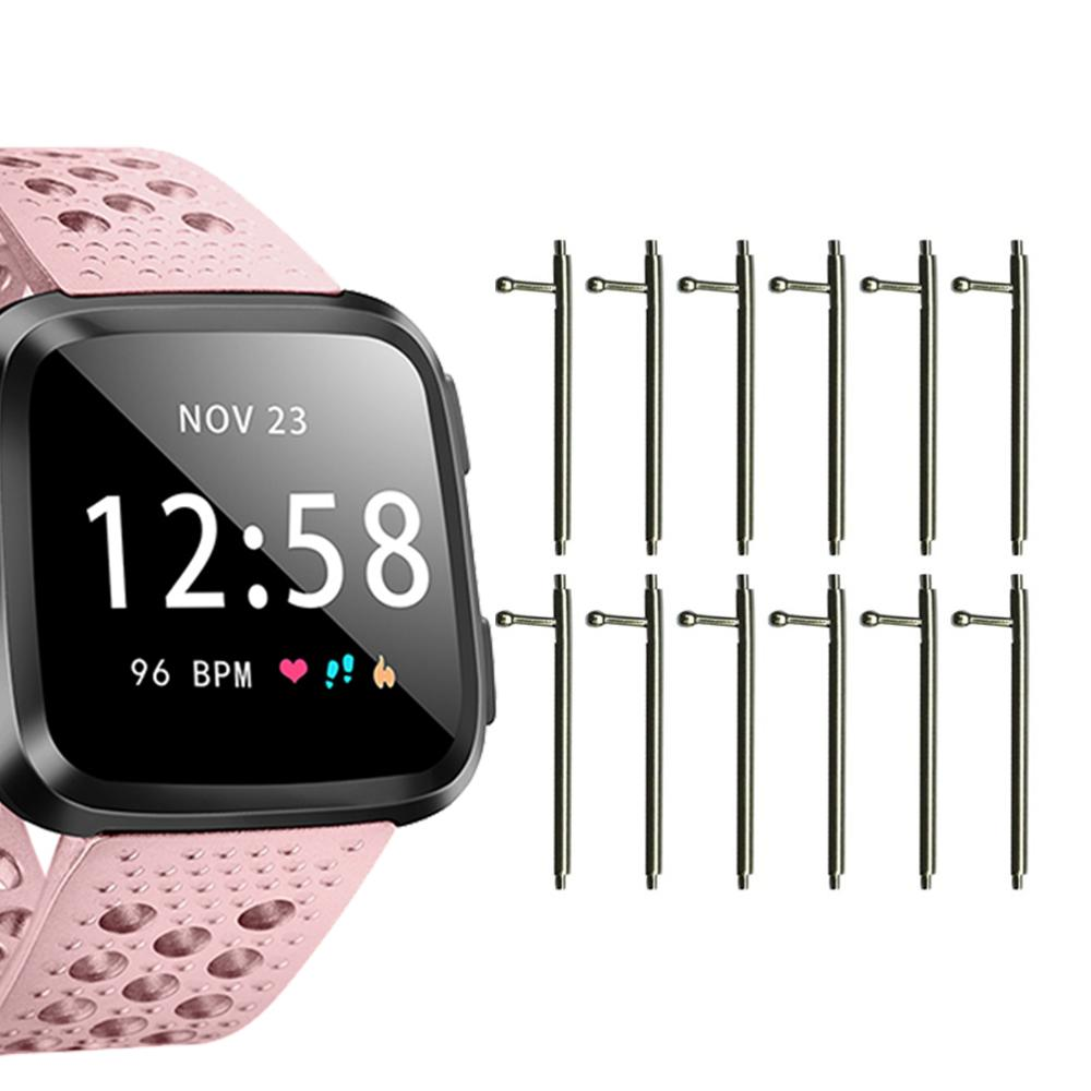 Honecumi 10pcs Pack For Fitbit Versa Spring Bar Metal 23mm x 1.5mm Quick Release Watch Band Pins For Fitbit Versa Lite Accessory