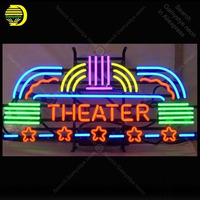 Theater Stars Neon Sign neon bulb Sign real Glass Tube Hotel neon light Recreation Room display Sign Advertise personalized