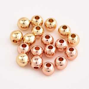 Image 4 - 100pcs/lot 6mm Charm Gold Fill Beads For Jewelry DIY Findings Handmade Bracelet Necklace Spacer Beads Jewelry Making Accessories