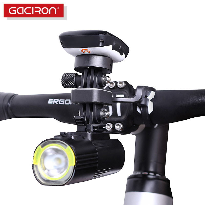 GACIRON Road Bike Multifunction Aluminum alloy Phone\Camera\Bicycle computer Holder Adjustable Handlebar Mount Bracket Extended цены онлайн
