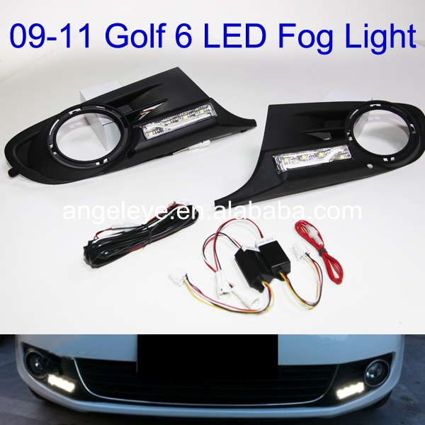 2009-2011 Year Golf 6 LED Daytime Running Light simulation mini golf course display toy set with golf club ball flag