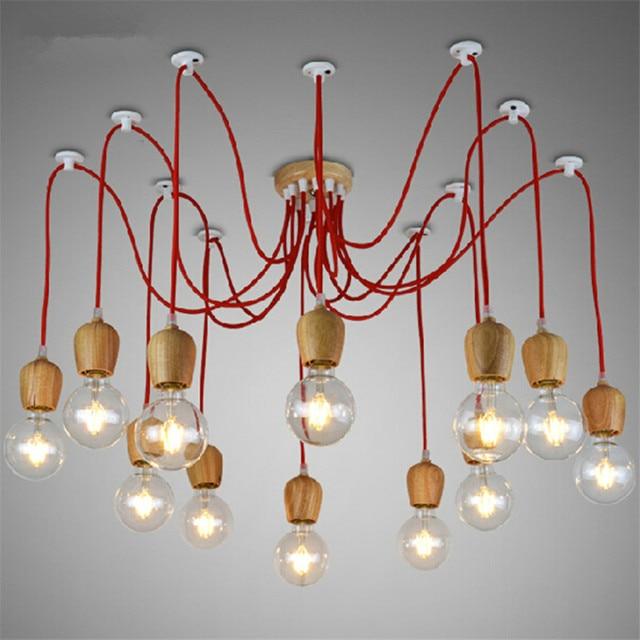 wooden chandelier lighting. Modern E27 Base Wood Chandelier,Novelty 6-8 Heads Wooden Edison Pendant Lamp For Chandelier Lighting