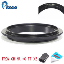 цена на Pixco 58mm-For Nikon Z Droshipping with lens adapter, 58mm Lens Macro Reverse Adapter Ring Suit For Nikon Z Camera