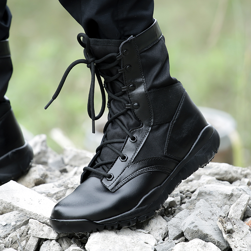 Lightweight Military Black Boots Men Breathable Spring Summer Shoes Tactical Combat Botas Hombre Militares Chaussure Homme