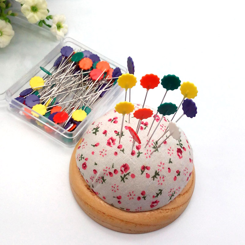 Button Head Pins Long Coloured Pins Patchwork Quilting Sewing DIY Tools LC