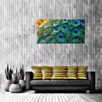 Peacock Feather Large Poster Canvas Print Multi Artwork Picture for Bathroom Hallway Wall Decor Still Life Animals Drop Shipping