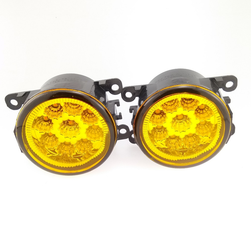 For DACIA Duster Sandero LOGAN 2004-2015 Styling High Bright LED Fog Lamps Yellow Glass Fog Lights 1set for dacia logan saloon ls