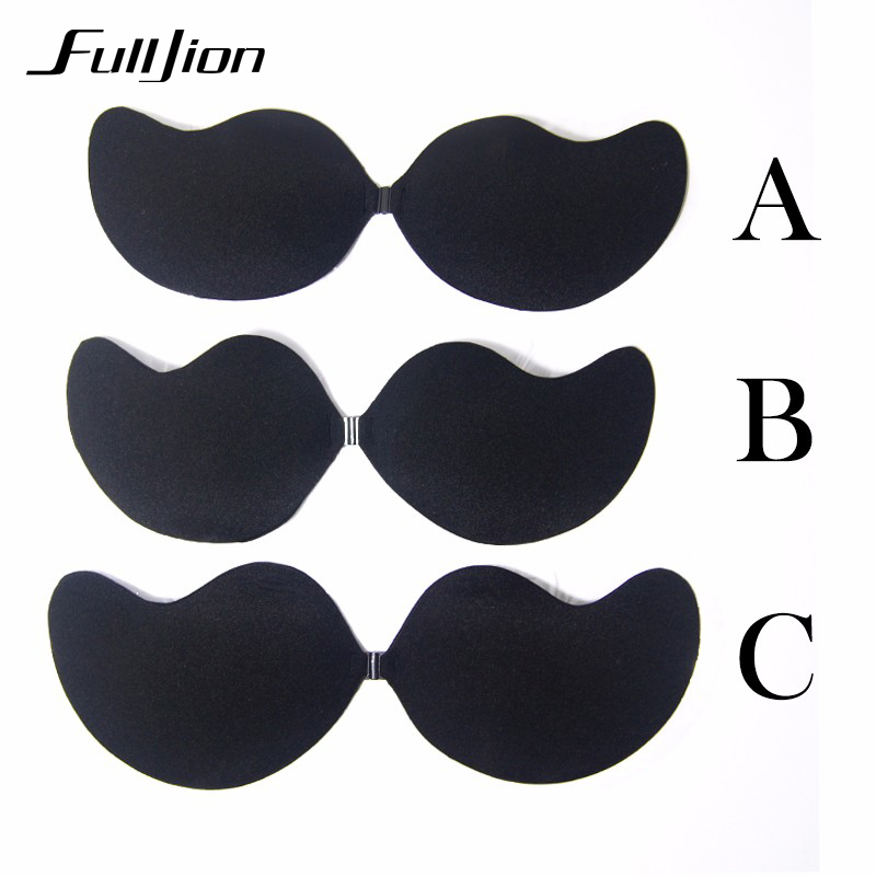Fulljion New Sexy bra Women Self Adhesive Strapless Bandage Stick Gel Silicone Push Up Invisible Bra seamless Intimates bras 11