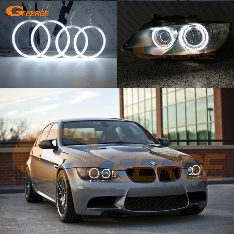 For BMW 3 Series E90 E92 E93 M3 2007-2013 Coupe and cabriolet Excellent Ultra bright illumination CCFL Angel Eyes kit Halo Ring