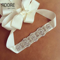 Elegant beaing Rhinestones Bridal Sashes Handmade for formal Dresses shinning crystals beaded trims wedding belts accessories