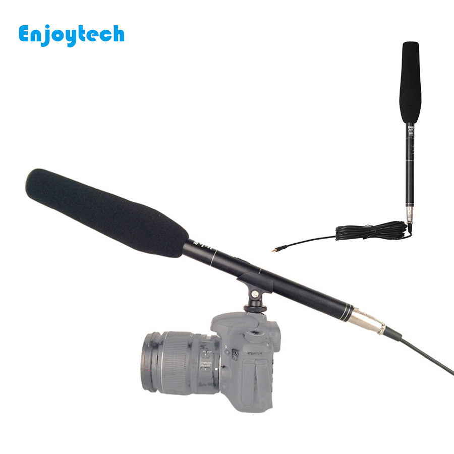 Newest Camera Stereo Microphone for Canon/Nikon/Sony/Camcorder Camera Mounted Shotgun 3.5mm Handheld Wired Recording Microphone