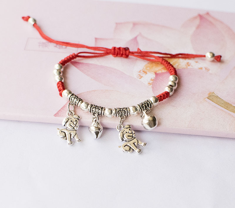 China Zodiac Bracelet jewelry fine jewelry nice colorful braid bracelet red rope for girls and boys tiger pig dog horse cock cow