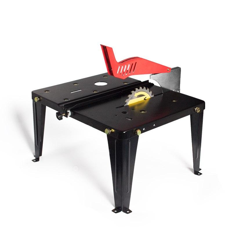 Столярный верстак Multi-function составный стол портативный Бытовая вешалка раздвижной Электрический циркулярная пила флип-пилинг стол