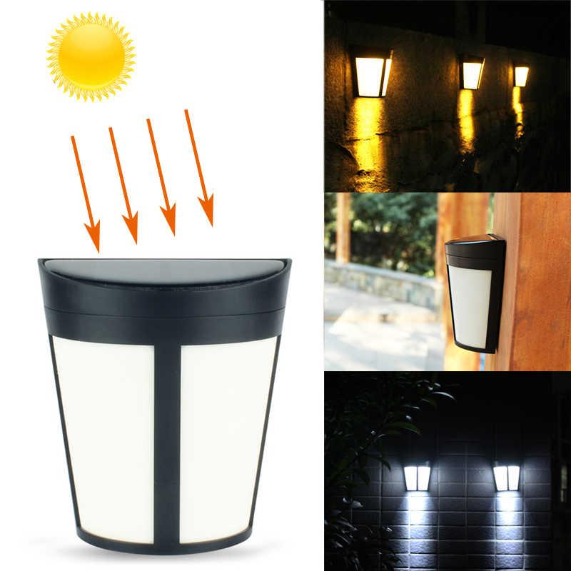 LED Solar Power Licht Steuer Wall Licht 6 LEDs Outdoor Wasserdicht Energy Saving Auto AUF/OFF Garten Terrasse Zaun sicherheit Lampe