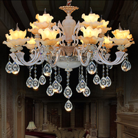 Zinc Alloy Crystal Chandelier luxurious Living Room Lights European Chandelier Restaurant Crystal Lamp Hotel Chandelier Lamps