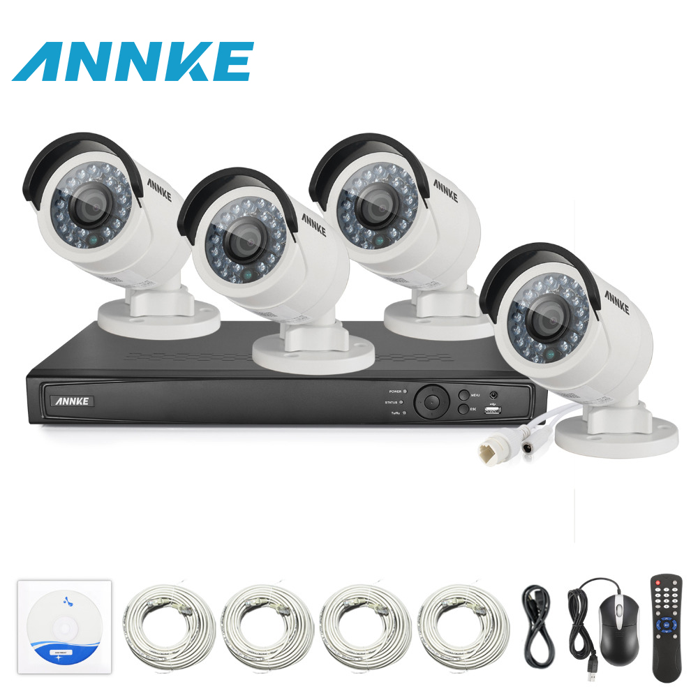 ANNKE Surveillance System 8CH HD 1520P 4MP NVR IP Network PoE 2688*1520P CCTV Camera Security System Surveillance Kit NVR Kits