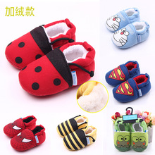 Cartoon new winter plus velvet knitted fabric can not afford shoes toddler shoes baby shoes