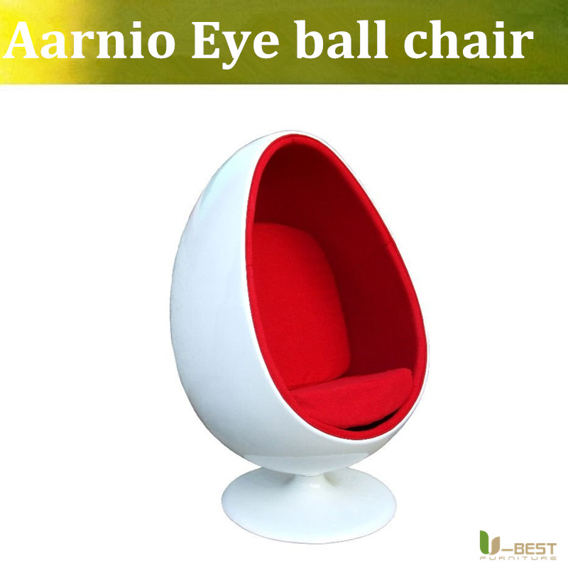 все цены на U-BEST Retro Living Room Leisure Egg Pod Ball Chair for Beauty Teeth Whitening Designed by Eero Aarnio with Red Velvet онлайн