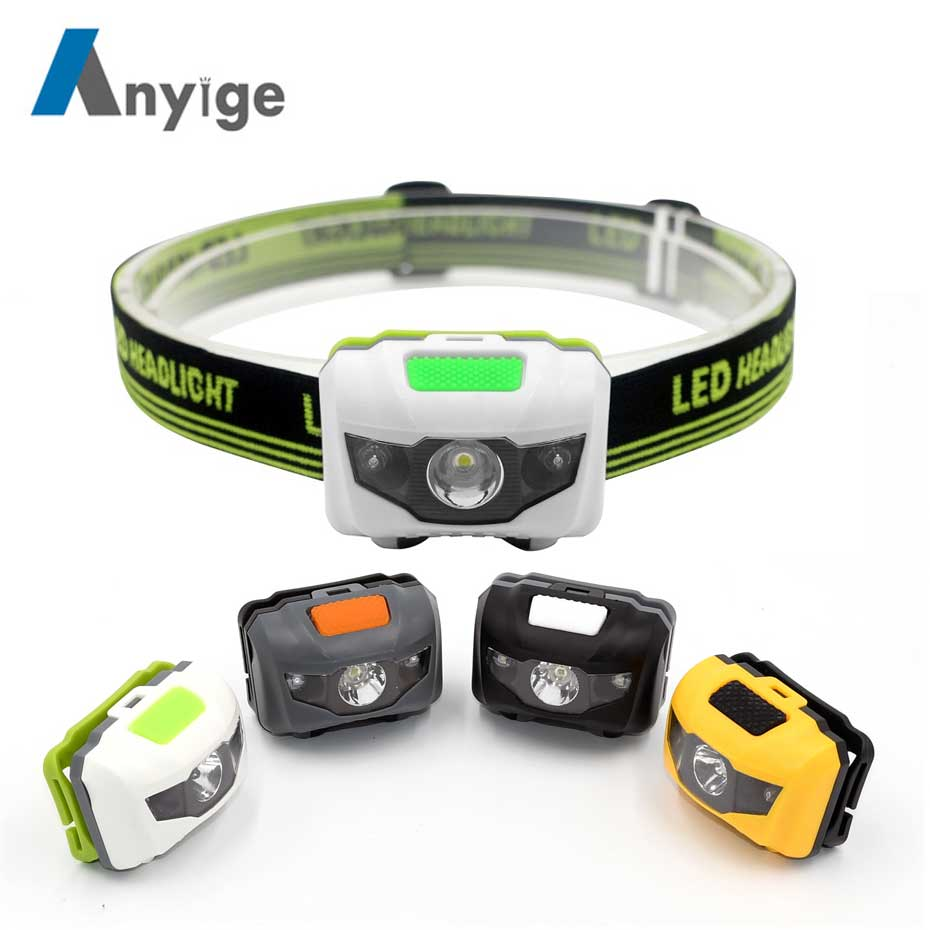 ANYIGE Mini Head Lamp 4 Mode Waterproof 600Lm R3+2 LED Flashlight Super Bright Headlight Headlamp Torch Lanterna Use AAA Battery r3 2led super bright mini headlamp headlight flashlight torch lamp 4 models