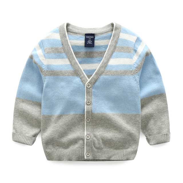 Warm Cotton Boys Sweater Striped Long Sleeve Kids Sweater Boy ...